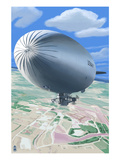 Aerial View of Blimp
