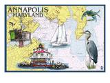 Annapolis  Maryland - Nautical Chart