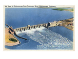 Chattanooga  Tennessee - Aerial View of the Chickamauga Dam
