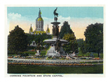 Hartford  Connecticut - Bushnell Park Corning Fountain