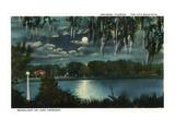 Orlando  Florida - Moonlit Lake Cherokee Scene