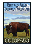 Buffalo Bills Lookout Mountain  Colorado - Bison Scene