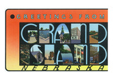 Grand Island  Nebraska - Large Letter Scenes