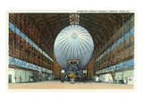 Langley Field  Virginia - Airship Hangar Interior View