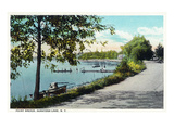 Saratoga Springs  New York - View of Point Breeze at Saratoga Lake