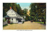Philadelphia  Pennsylvania - Valley Green Inn  Wissahickon Drive Scene