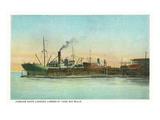 Coos Bay  Oregon - Ships Loading Lumber Scene