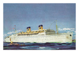 View of Matson Liner SS Lurline