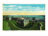 St Augustine  Florida - Panoramic View of Fort Marion