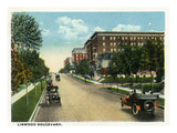 Kansas City  Missouri - View Down Linwood Boulevard