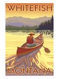 Whitefish  Montana - Canoe Scene