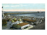 Long Beach  California - View of Long Beach Strand and Pier