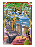 Lahaina  Maui  Hawaii - Town Scenes Montage