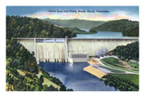 Norris  Tennessee - View of Norris Dam and the Power House