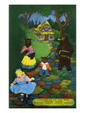 Lookout Mountain  Tennessee - Fairyland Caverns  Interior View of Goldilocks and the 3 Bears