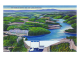 Norris  Tennessee - Aerial View of Norris Dam and Norris Lake