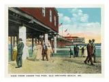 Old Orchard Beach  Maine - under the Pier Scene