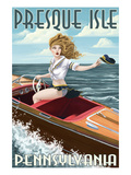 Presque Isle  Pennsylvania - Pinup Girl Boating