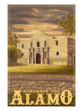 The Alamo Sunset - San Antonio  Texas