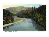 Rogue River  Oregon - River Scene Near Gold Beach