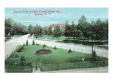 Syracuse  New York - Castle St and Cortland Ave View of Furman Park