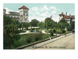 St Augustine  Florida - Post Office Square View