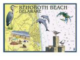 Rehoboth Beach  Delaware - Nautical Chart