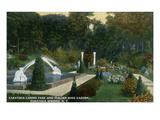 Saratoga Springs  New York - Casino Park and Italian Rose Garden View