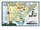 Cape May  New Jersey - Nautical Chart