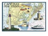 Cape May  New Jersey - Nautical Chart