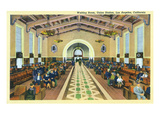 Los Angeles  California - Union Station Interior View of Waiting Room