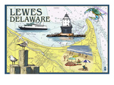 Lewes  Delaware - Nautical Chart