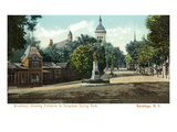 Saratoga Springs  New York - Congress Spring Park from Broadway