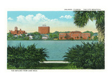 Orlando  Florida - Lake Eola View of the City Skyline