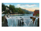 Rochester  New York - Lower Falls in Genesee Park View