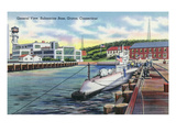 Groton  Connecticut - General View of the Submarine Base