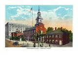 Philadelphia  Pennsylvania - Independence Hall from Chestnut Street
