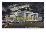 Kansas City  Missouri - Exterior View of Union Station at Night