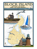 Block Island  Rhode Island - Nautical Chart