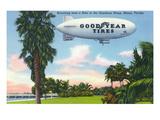 Miami  Florida - View of the Goodyear Blimp