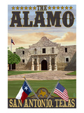 The Alamo Morning Scene - San Antonio  Texas