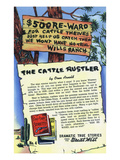 The Cattle Rustler Storiette  500 Dollar Reward Sign