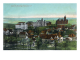 Syracuse  New York - Panoramic View of the University and Grounds