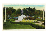 Rochester  Minnesota - City Park  View of the William Worrell Mayo Statue