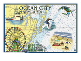 Ocean City  Maryland - Nautical Chart
