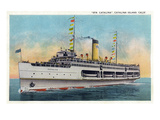 Santa Catalina Island  California - View of Steamer Catalina