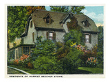 Hartford  Connecticut - Harriet Beecher Stowe House Exterior