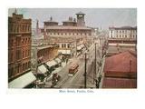 Pueblo  Colorado - Panoramic View of Main Street
