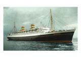 View of Holland American Ocean Liner SS Nieuw Amsterdam