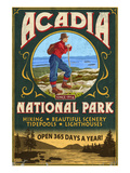 Acadia National Park - Vintage Hiker Sign
